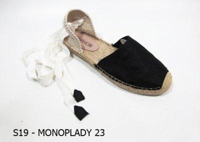 S19 - MONOPLADY 23 - Black Iurex